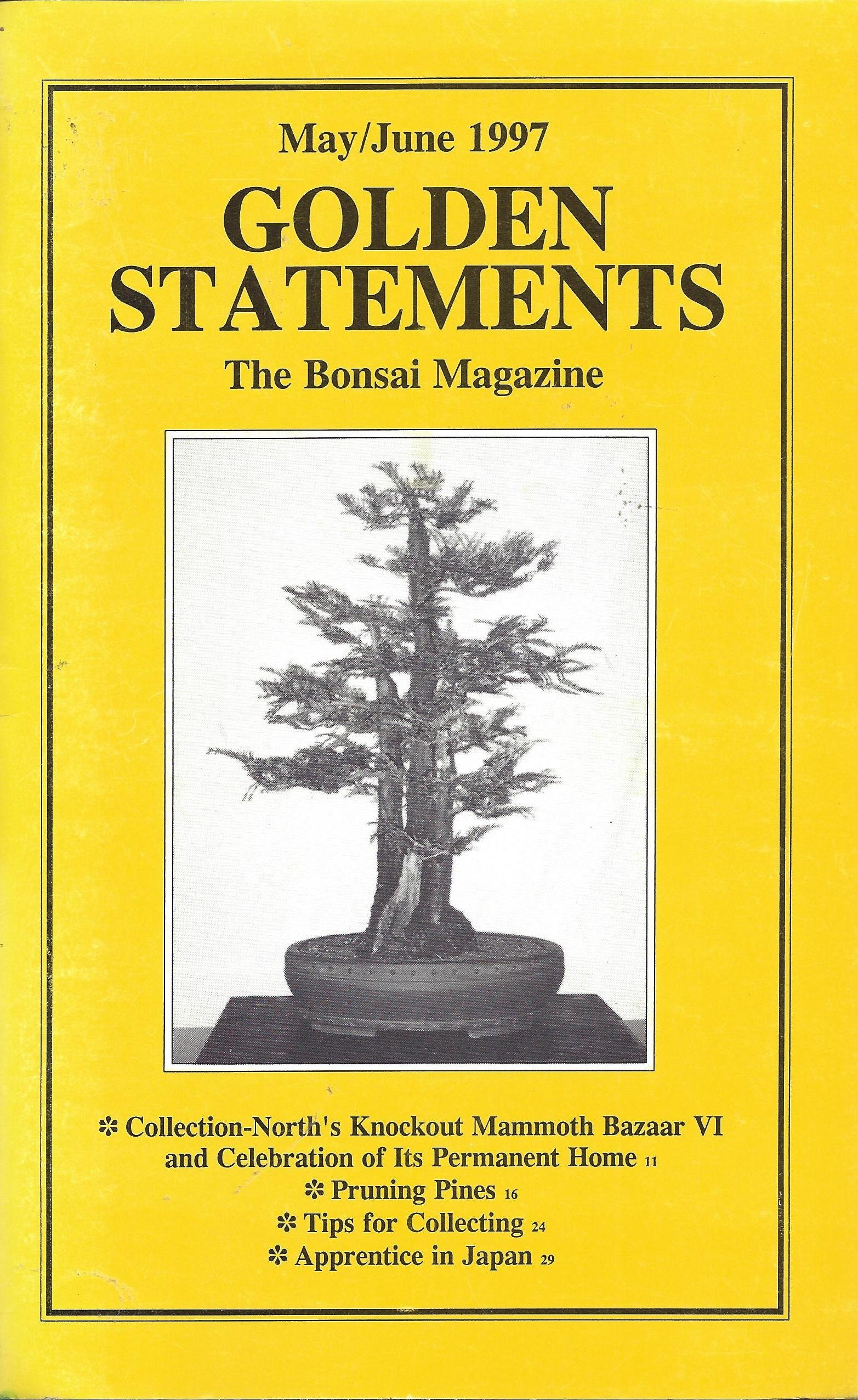 Amazon.com: Golden Statements the Bonsai Magazine : Pruning ...