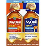 Vicks DayQuil & NyQuil Severe Honey, Cough, Cold & Flu Relief, Sore Throat, Fever, & Congestion Relief, Day & Night Relief, 1