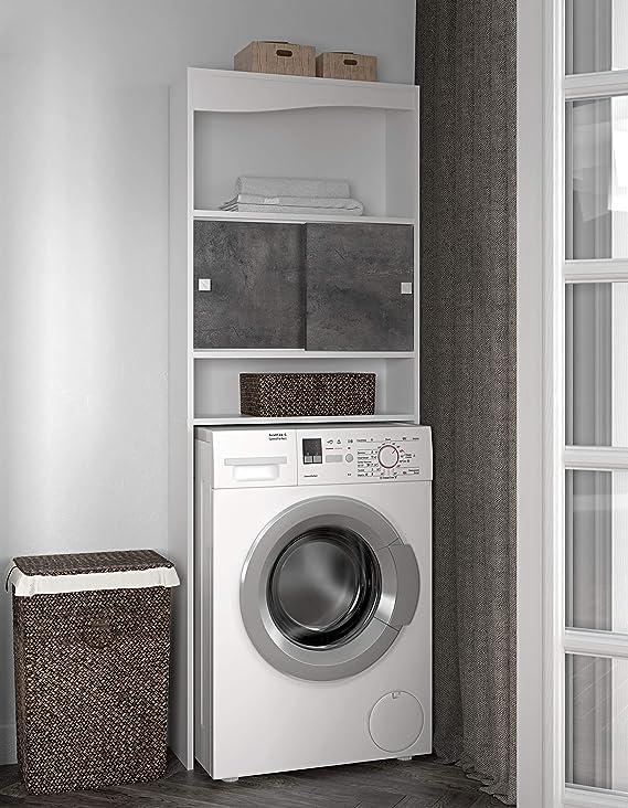 temahome Wave mueble para lavadora, rojas, Melamina, blanco y ...