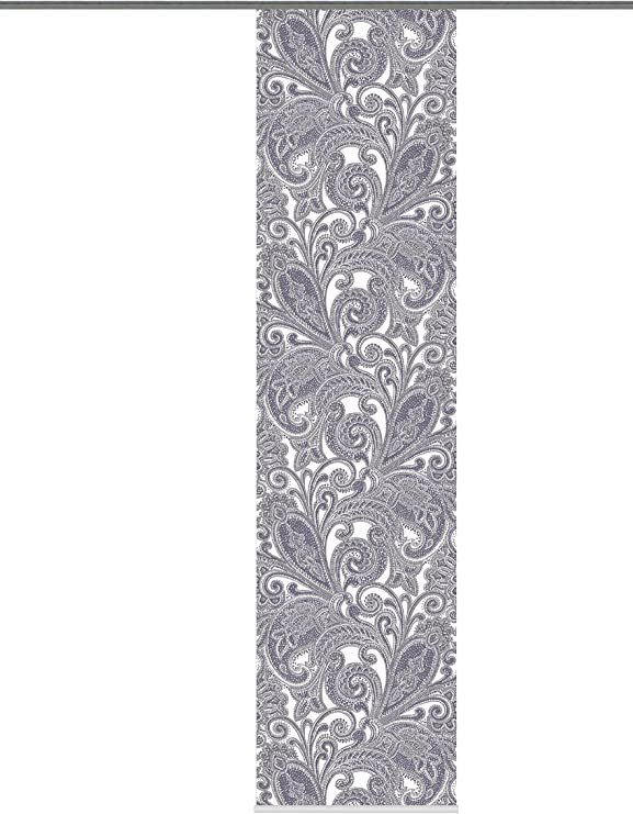 Panneau Japonais Opaque et translucide Rideau brod/é /Ökotex Typ417 heimtexland  Rideau Coulissant Naturel Aspect Batiste avec Broderie Tendance et Accessoires Inclus 245 x 60 cm