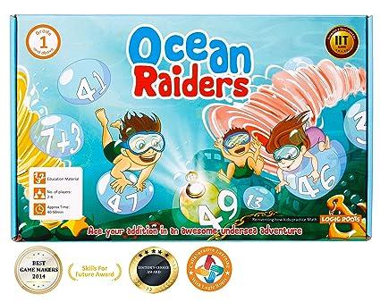 Educational Math Board Game Ocean Raiders Enjoy & Learn Addition with Family