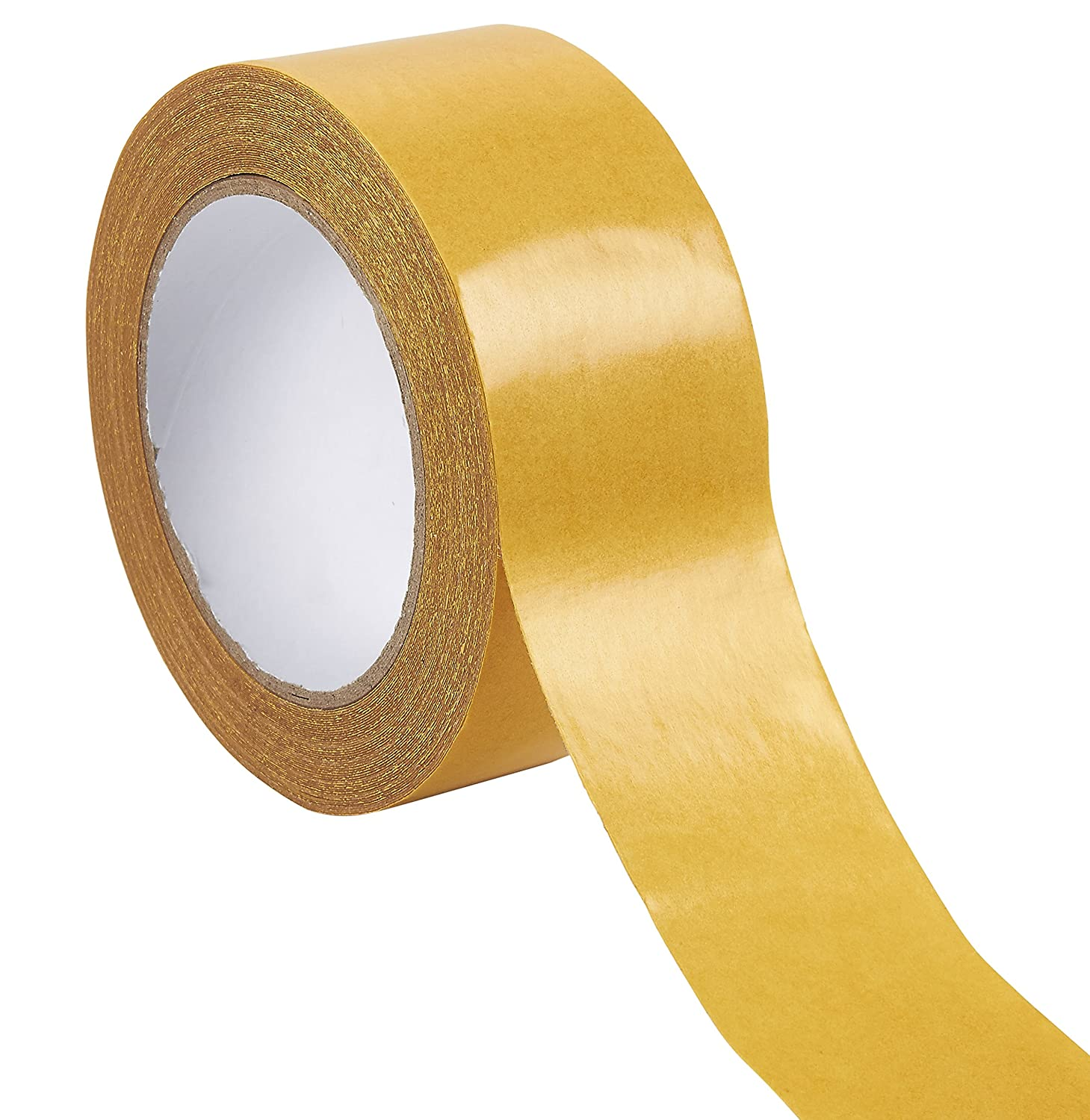 Heavy Duty Double-Sided Tape - Carpet Tape, Anti-Skid Tape Rug Gripper Adhesive for Area Rugs, Hardwood, Tile, Indoor, and Outdoor Floors, 2-Sided, 2-inch x 49-Feet Juvale