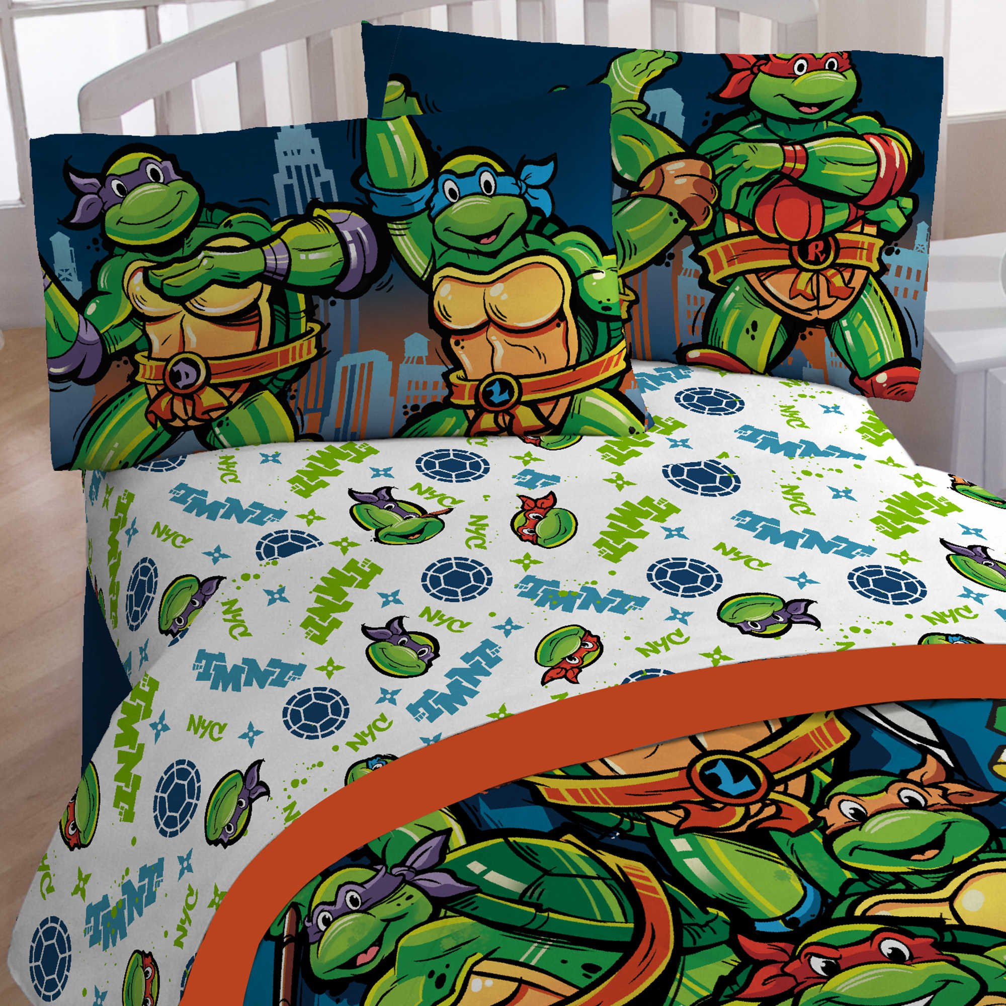 Teenage Mutant Ninja Turtles 4pc Full Size Bed Sheet Set - CityScape by Jay Franco