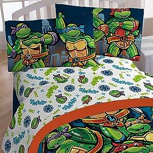 Teenage Mutant Ninja Turtles 4pc Full Size Bed Sheet Set - CityScape