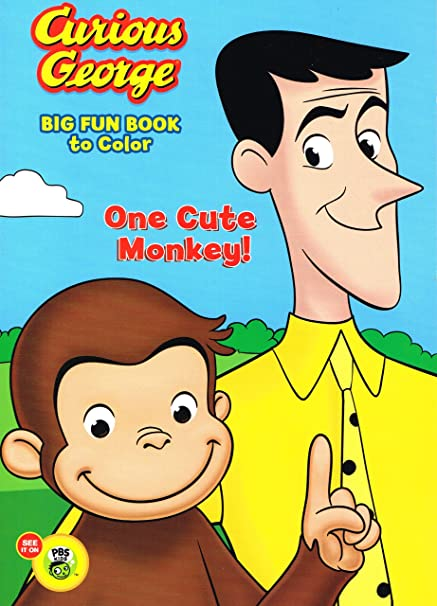 Amazon.com: Curious George Big Fun Book To Color (Art Cover Varies): Toys &  Games