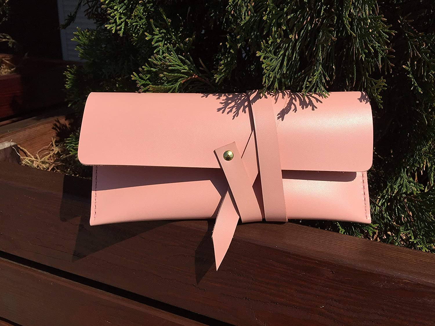 Leather clutch wallet Leather womens wallets Leather long wallet Pink clutch handmade