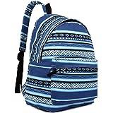 Miss LuLu Backpack Rucksack Travel Camping School Bags Women Butterfly Flower Polka Dot Elephant Fish Galaxy Retro