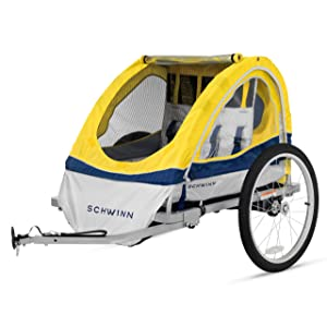 Schwinn Echo Kids/Child Double Tow Behind Bicycle Trailer 20 inch wheel size foldable