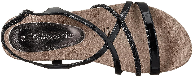 Black sandals ebay uk - 7 Uk Black Black Patent 018 Tamaris Women