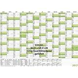 Wandkalender/Jahresplaner 2017 mit Ferien A1 grün 84,0 x 59,4 cm 135 g gefaltet