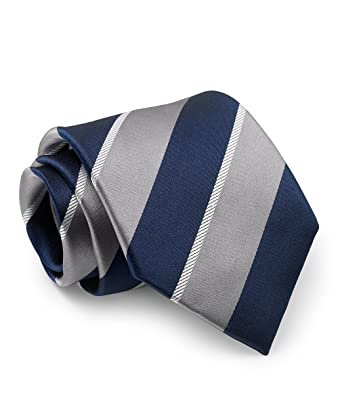 Savile Row Company - Corbata - para hombre azul Grey White Navy ...