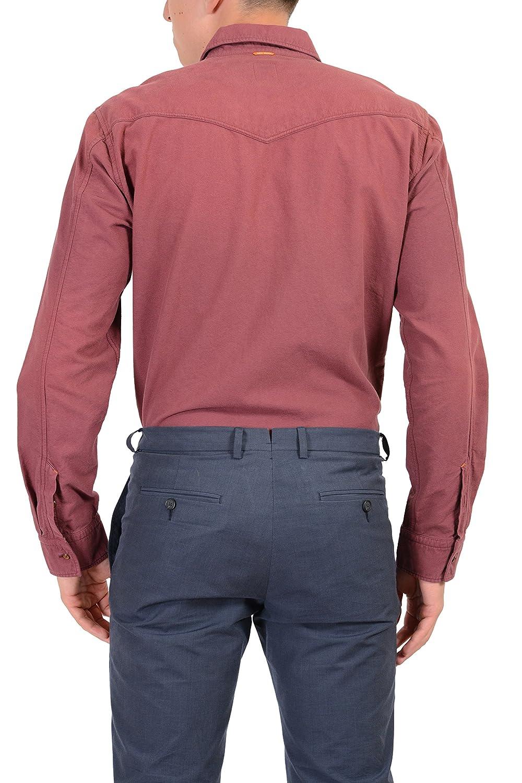 4d8dd3c7 Amazon.com: Hugo Boss Orange Cliffe Men's Cherry Casual Shirt US M IT 50:  Clothing
