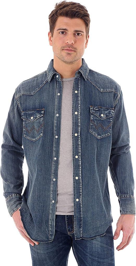 Wrangler(ラングラー)メンズ オーセンティックなカウボーイカット ウエスタンワークシャツ 長袖