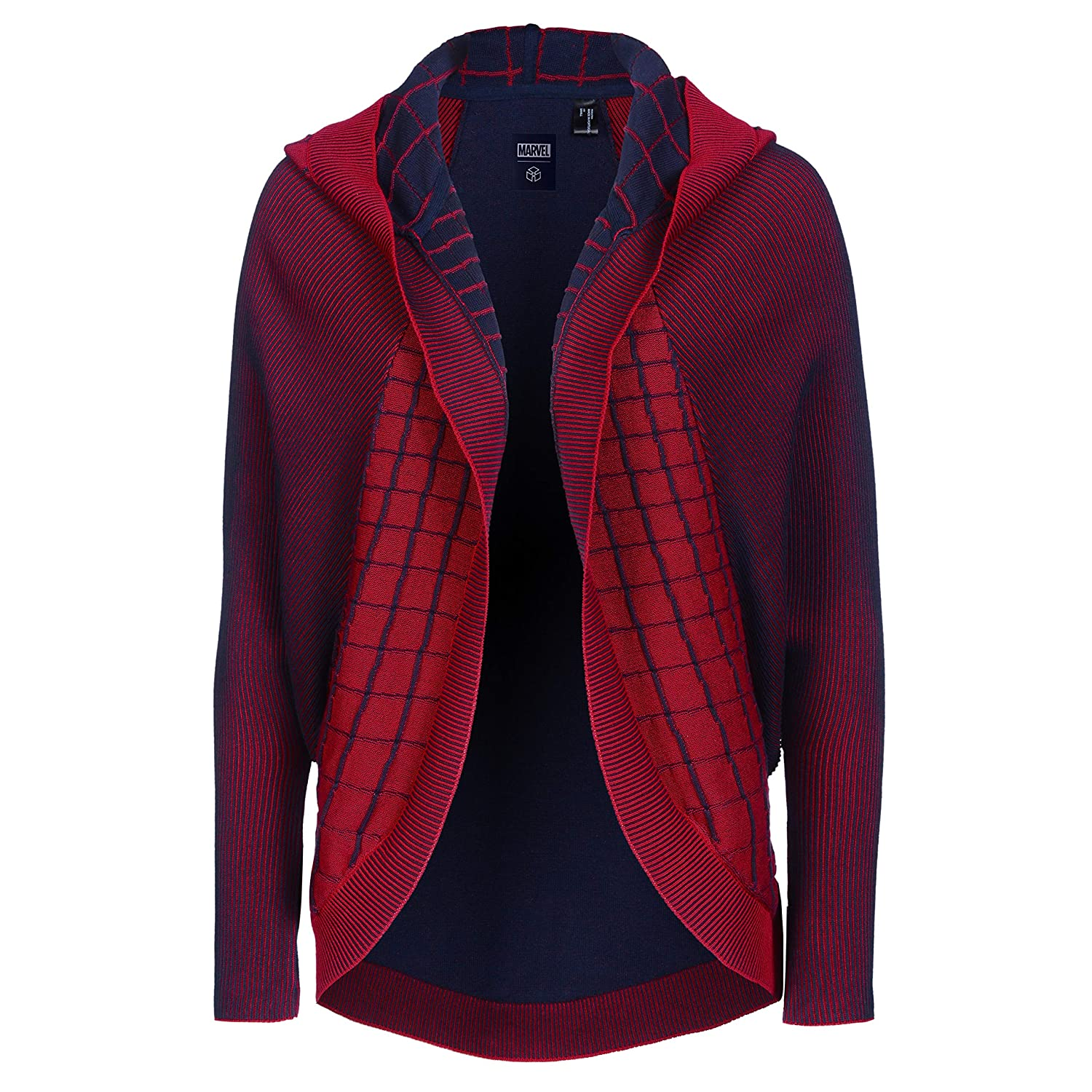 c01f28aeaf55c Musterbrand Marvel Ladies  Cardigan Damen Spider-Man Rot  Amazon.de   Bekleidung