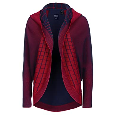 ba118a05c43a9d Musterbrand Marvel Women Ladies' Cardigan Spider-Man Red/Blue at ...