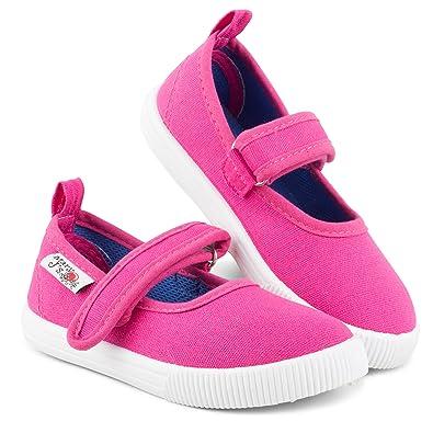 08d7f8a669cbf Amazon.com   Chillipop Girls Mary Jane Sneakers - Casual Canvas ...