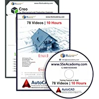 SS eAcademy Professional AutoCAD and CREO Tutorials in Hindi (179 Video | 26 Hours) [DVD]