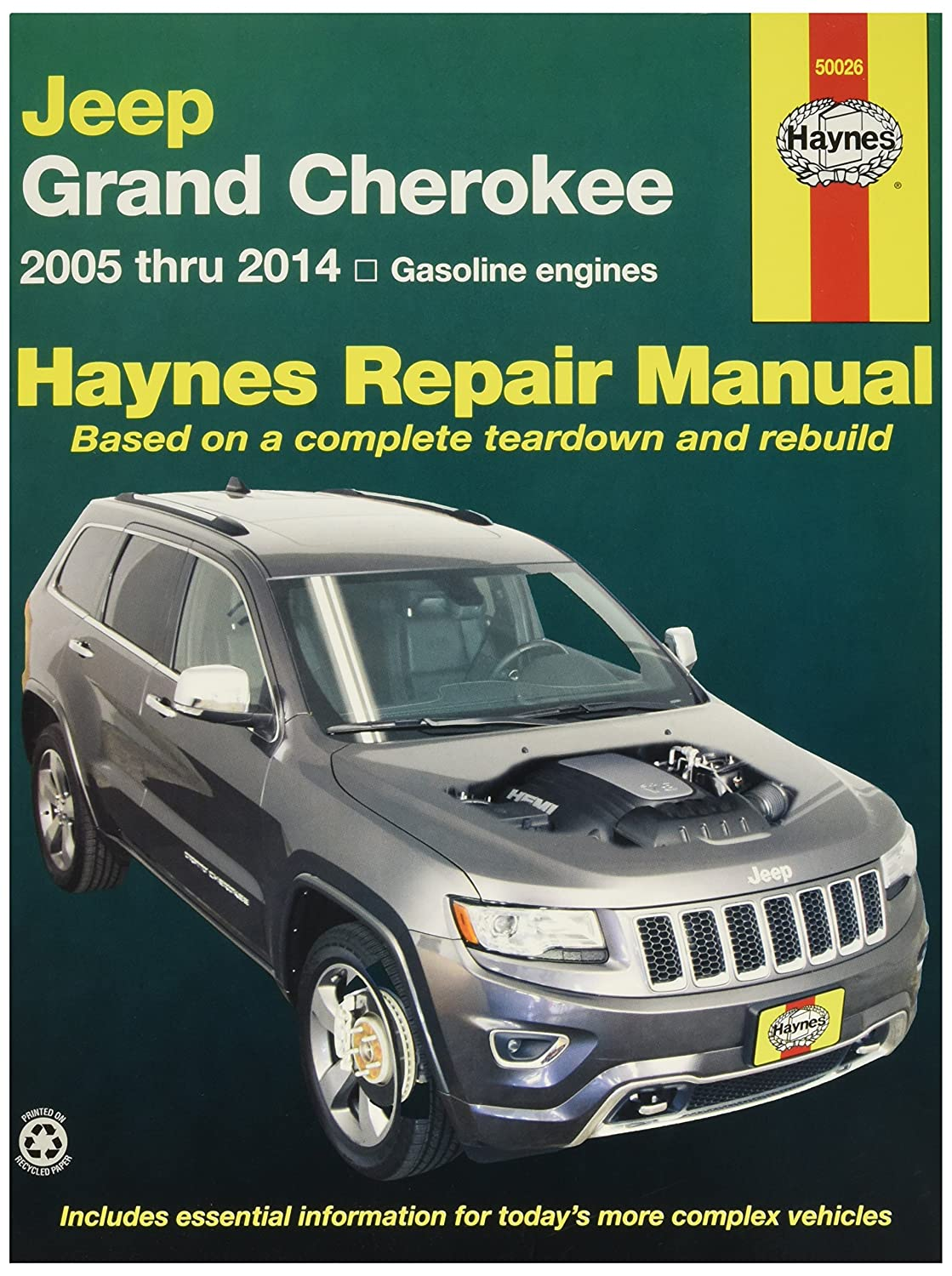 Amazon.com: Haynes 50026 Jeep Grand Cherokee Repair Manual (2005-2014):  Automotive