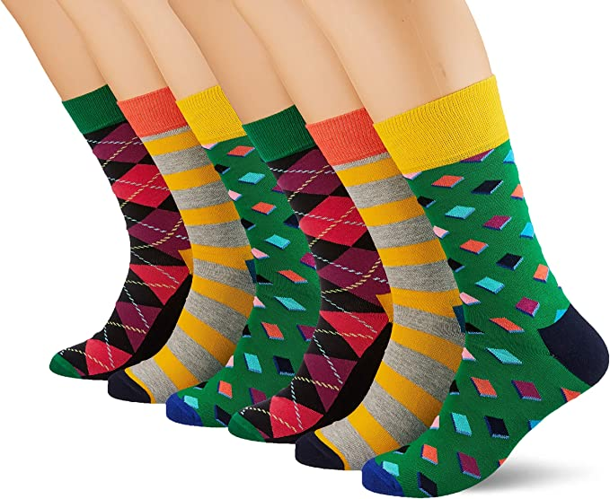 HS by Happy Socks Hs 3-pack Argyle Socks Calcetines, Multicolor ...
