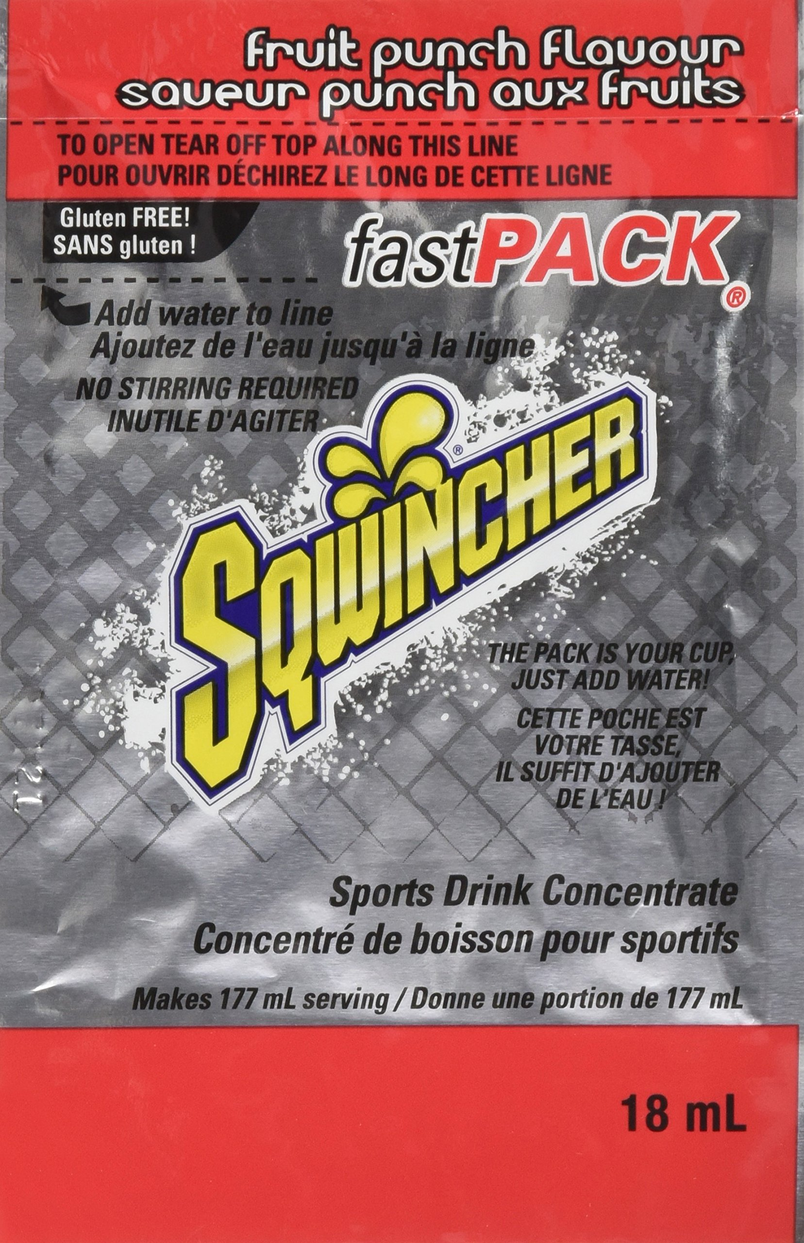Sqwincher Fast Pack Liquid Concentrate Electrolyte Replacement Beverage Mix, Fruit Punch 015305-FP (Pack of 200) by Sqwincher