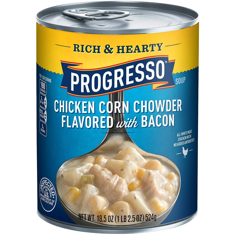 Progresso Gluten Free Rich & Hearty Chicken Corn Chowder Soup 18.5 oz. Can