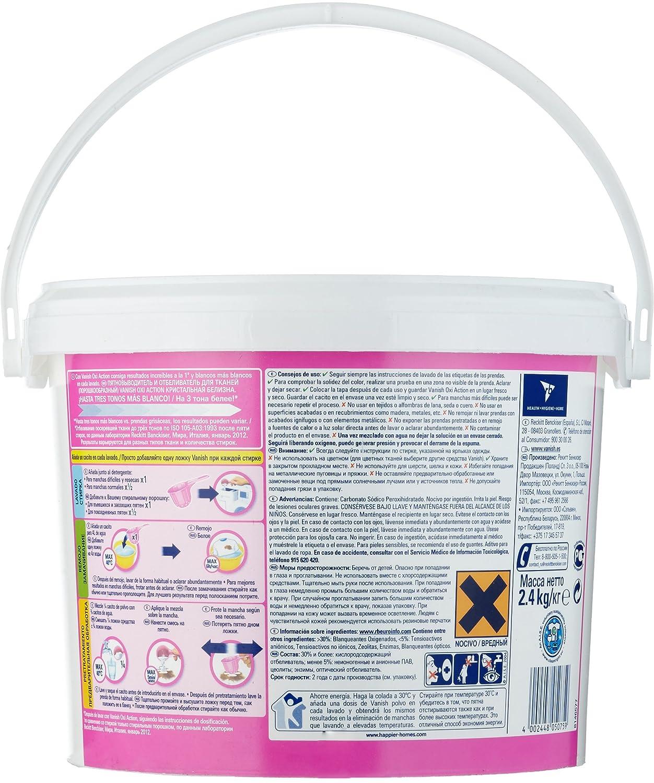 Vanish Quitamanchas Polvo Oxi Action Crystal White Profesional 2,4kg: Amazon.es: Amazon Pantry