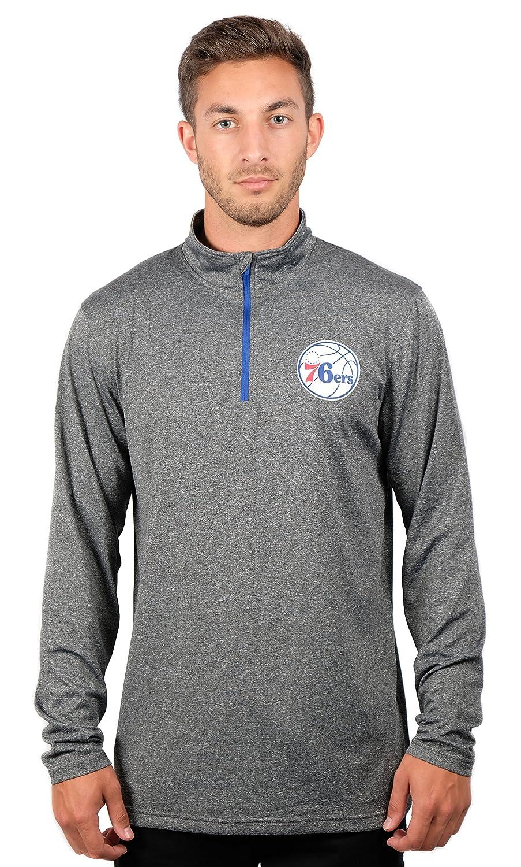 UNK NBA メンズ プルオーバーシャツ クウォータージップ 長袖Tシャツ チームロゴ グレー X-Large グレイ   B076LTGP64