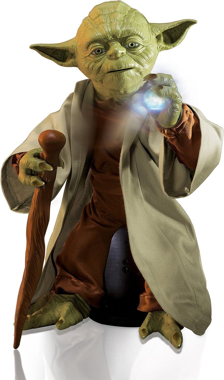 Star Wars légendaire Maître Jedi Yoda Avec Sabre Laser Figure Moves pourparlers Spin