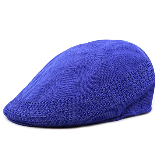 The Hat Depot 1100 High Quality Mesh Newsboy Ivy Hat (L/XL, Royal)