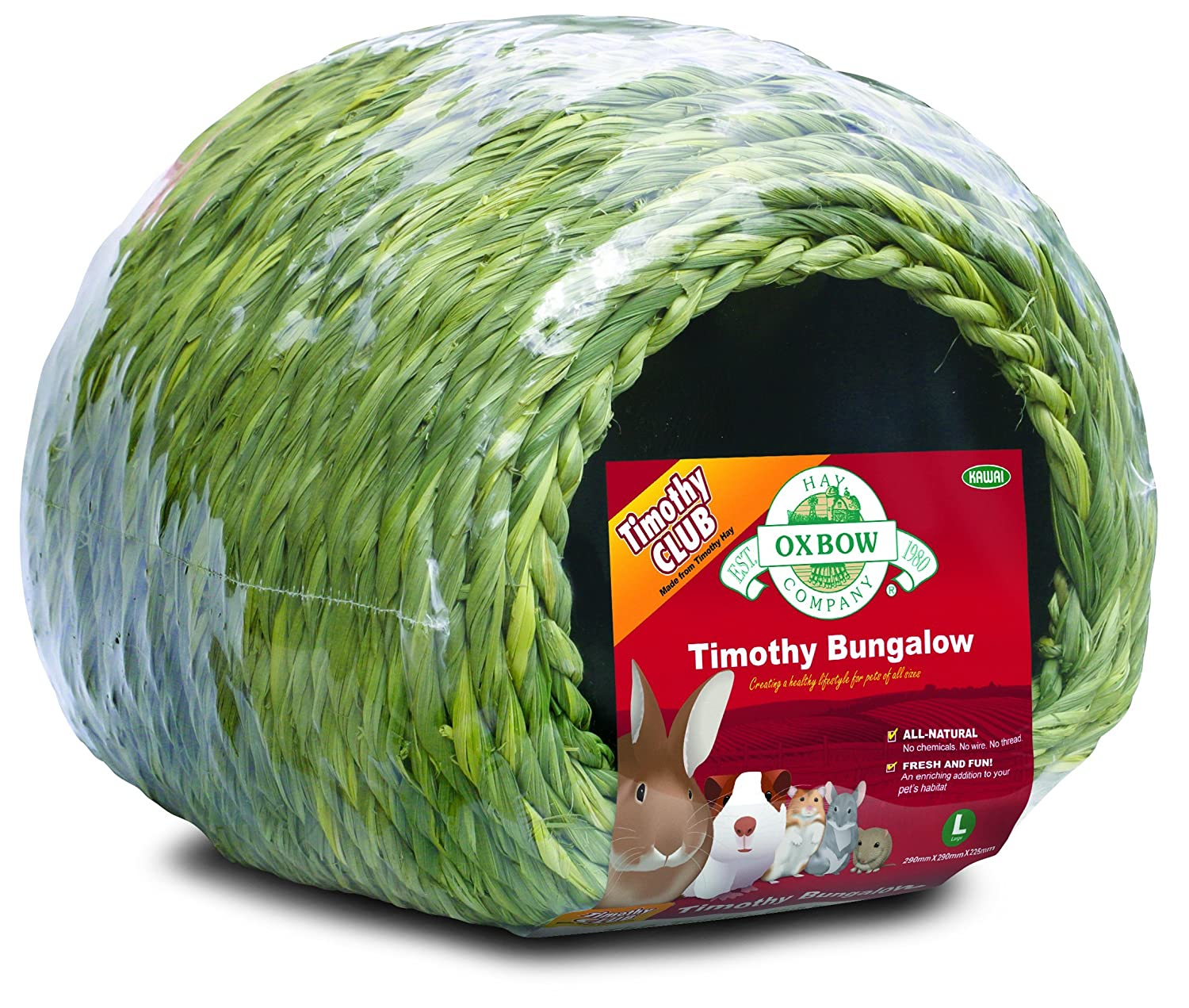 OXBOW PET PRODUCTS 448153 Timothy Club Bungalow for Pets, Large
