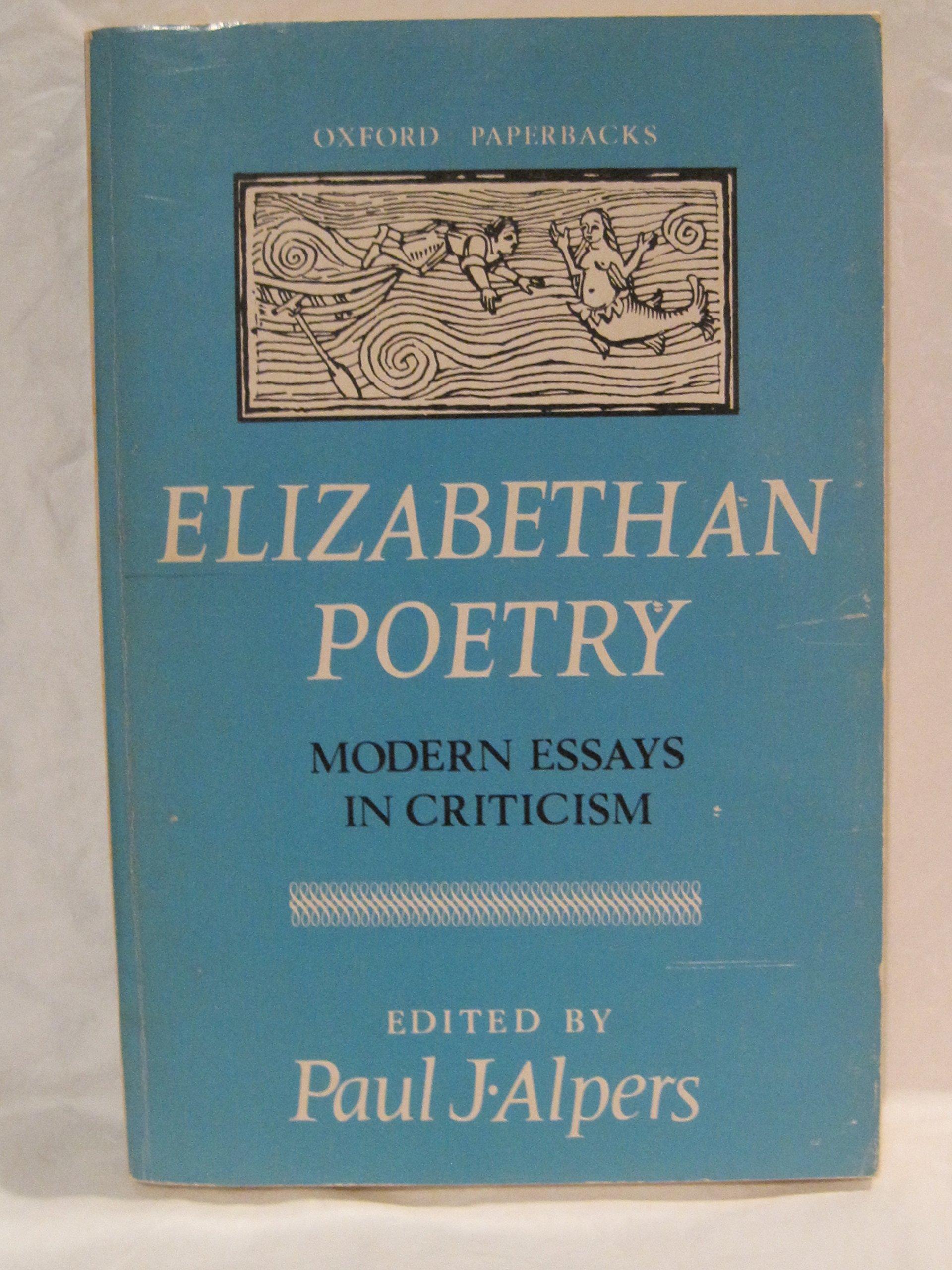 elizabethan poetry modern essays in criticism alpers paul j ed elizabethan poetry modern essays in criticism alpers paul j ed com books