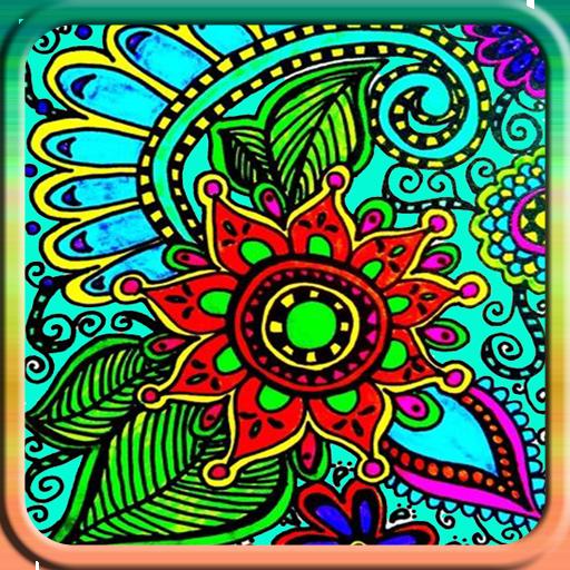 Flower Doodle Coloring Book (Para Dibujar Juegos)