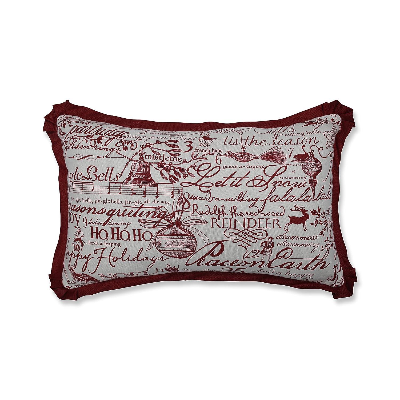 Pillow Perfect Holiday Poinsettia Throw Pillow 581323 16.5 16.5 Inc