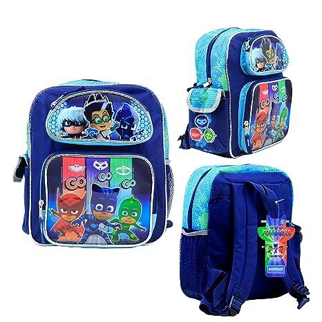 """Nickelodeon PJ Masks Kids 12"""" Toddler School Backpack Canvas Book ..."""