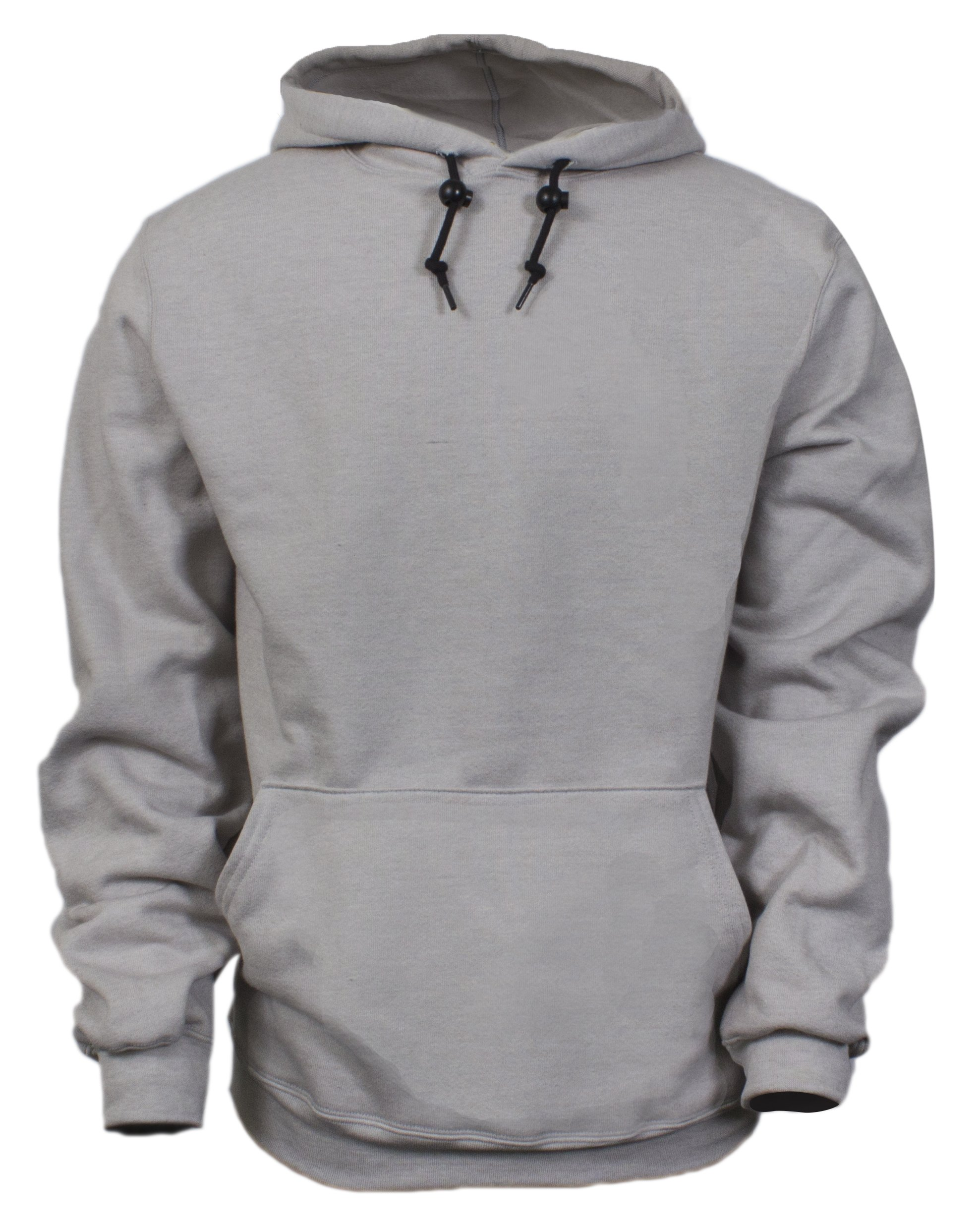 National Safety Apparel C21IG03XL 14 oz Flame Resistant Modacrylic Blend Fleece Hooded Pullover Sweatshirt, X-Large, Gray