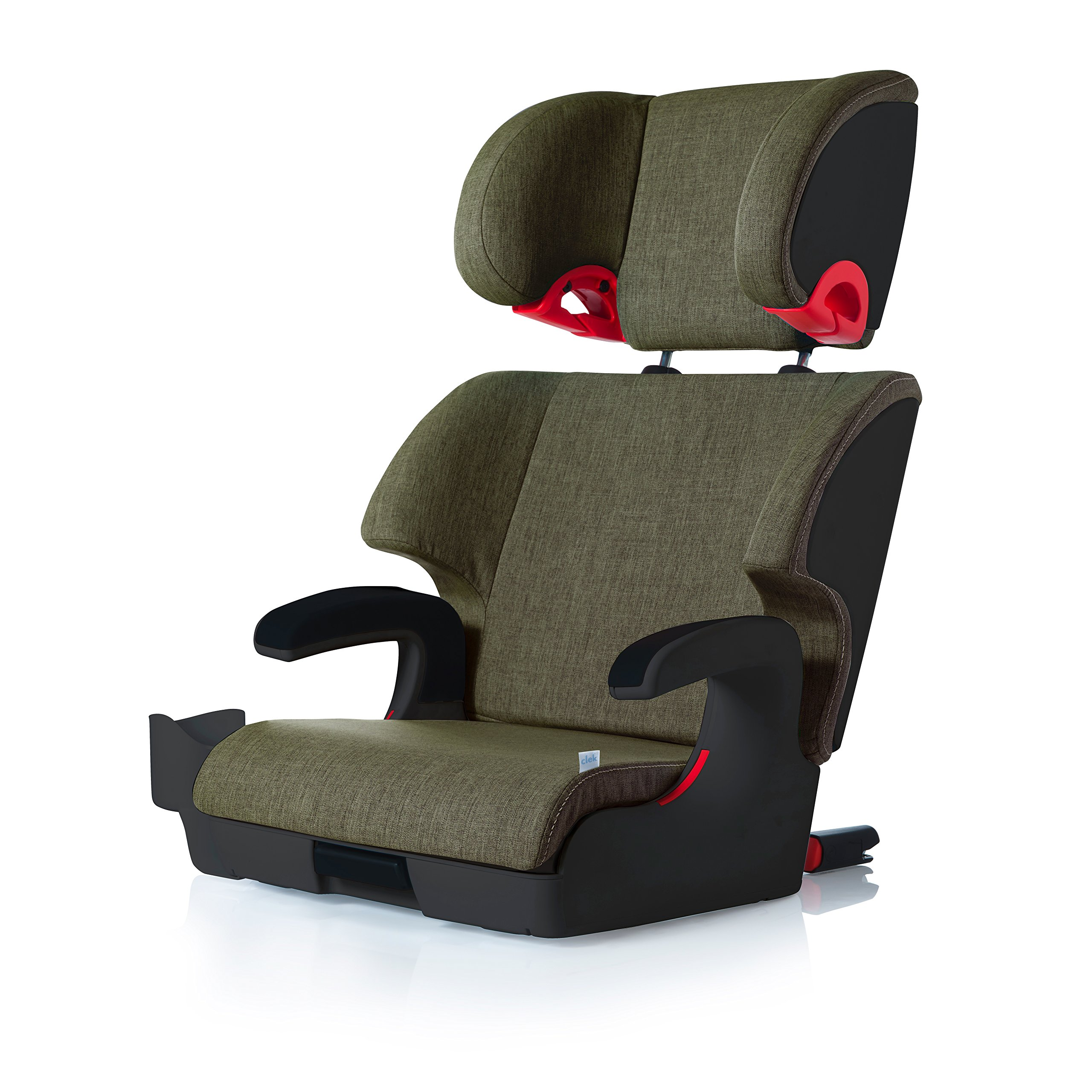 Clek Oobr High Back Booster Car Seat with Recline and Rigid Latch,Woodlands
