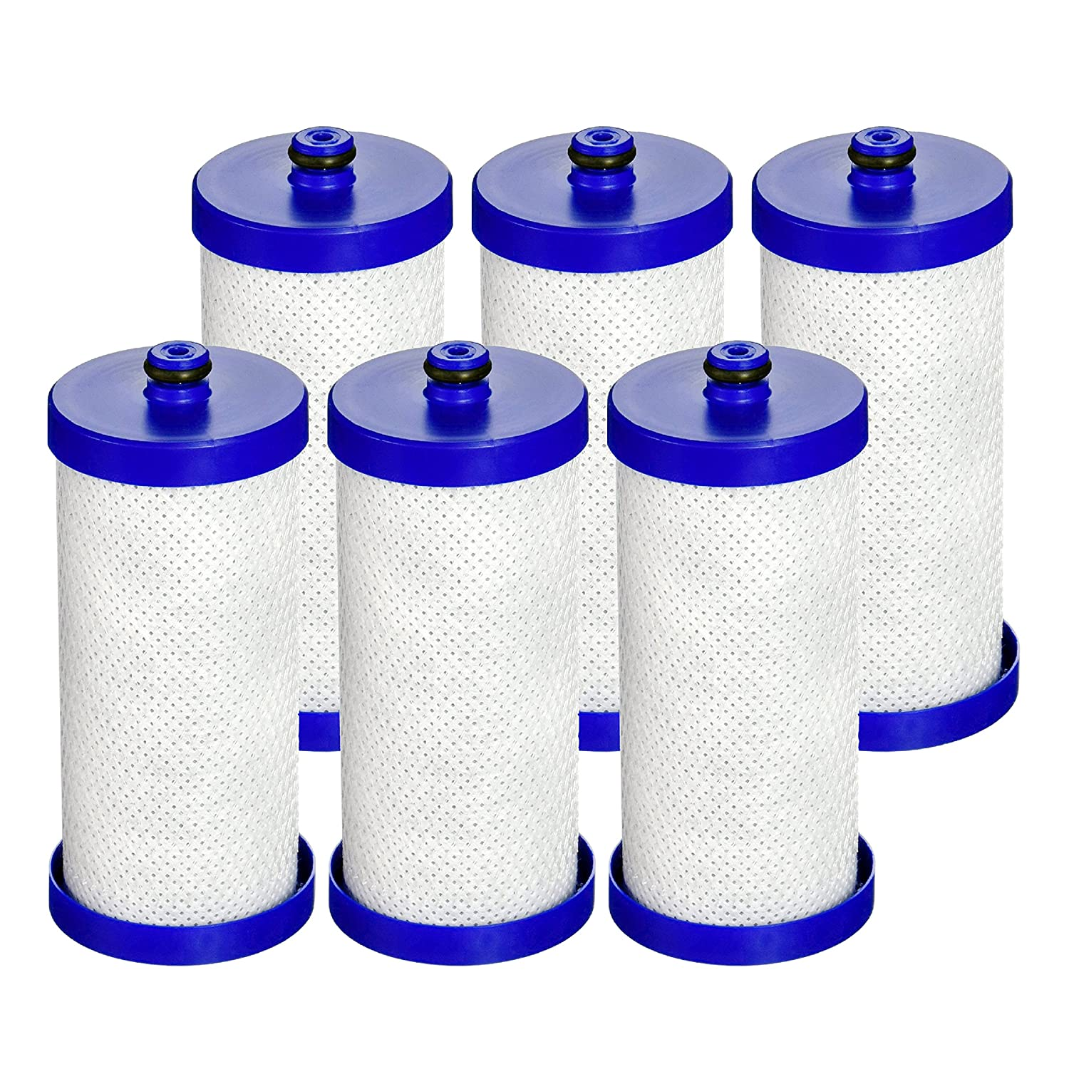 Waterdrop Refrigerator Water Filter, Compatible with WF1CB, WFCB, RG100, NGRG2000, WF284, 9910, 469906, 469910, Pack of 6