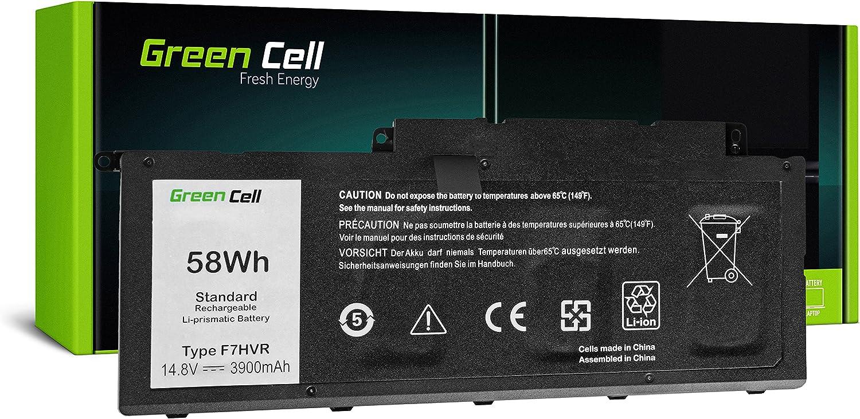 3900mAh 14.8V Noir Green Cell/® F7HVR Batterie pour Dell Inspiron 15 7537 17 7737 7746 Vostro 14 5459 Ordinateur PC Portable