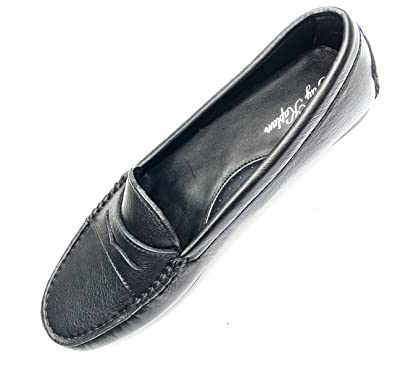 JAY KAPLAN 400 Dollar Womens Italian Leather Penny Loafers; Slip On Driver Mocassins, Sophie