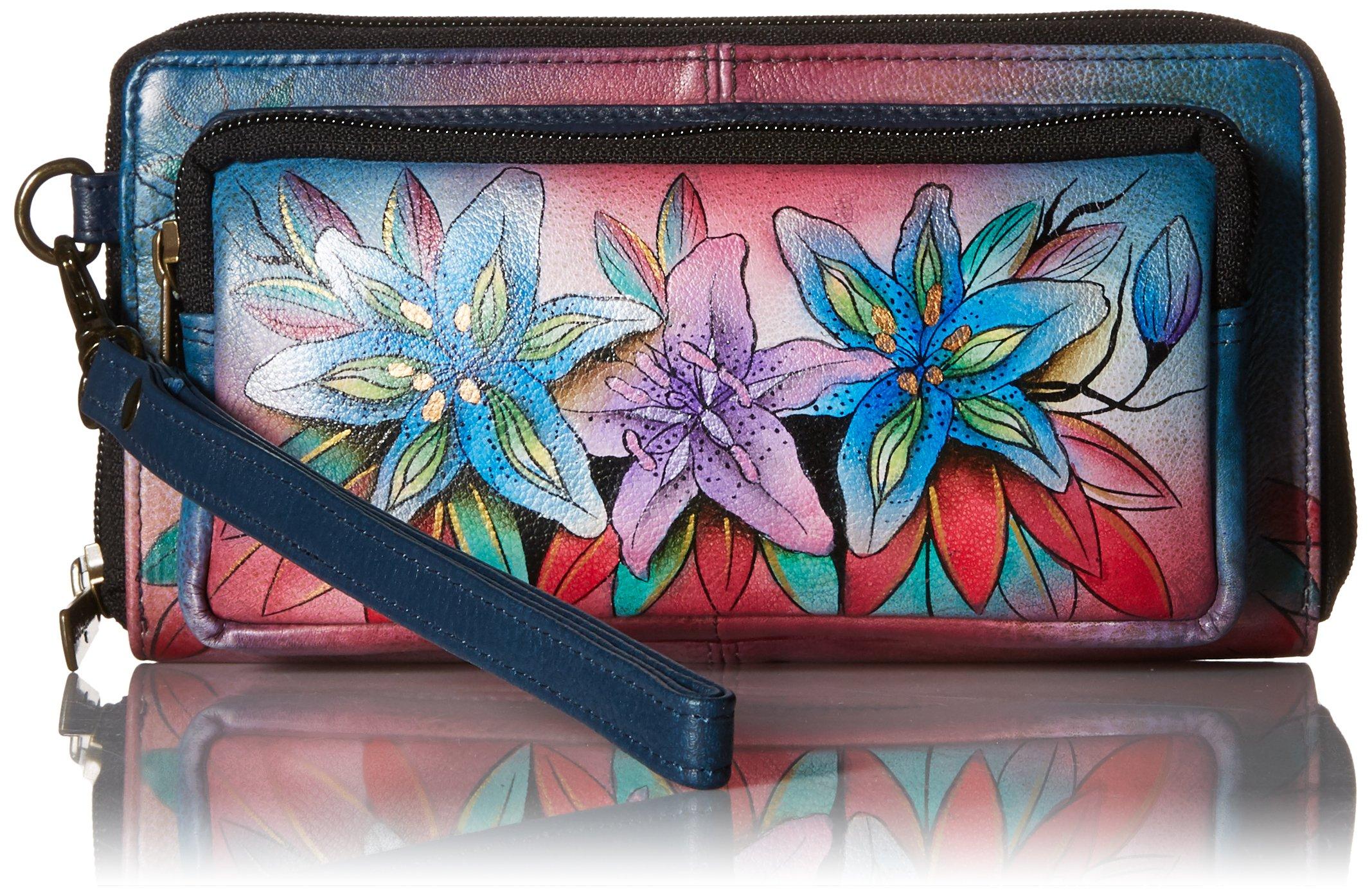 Anuschka Handpainted Leather Women's Rfid Blocking Zip Around Wallet