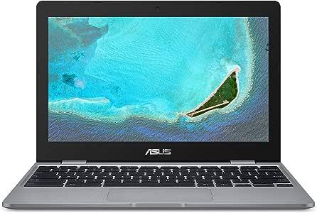 "ASUS Chromebook C223 Laptop- 11.6"" HD 1366x768 Anti-Glare Display, Intel Dual-Core Celeron N3350 Processor (Up to 2.4GHz) 4GB RAM, 32GB eMMC Storage, Chrome OS, C223NA-DH02 Grey"