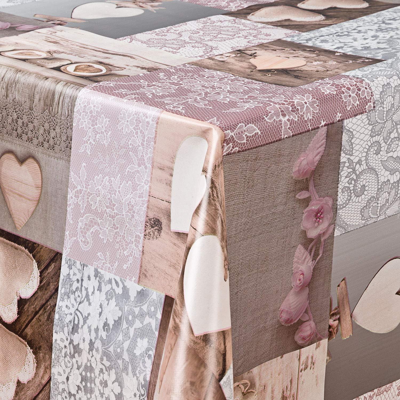 laro Wachstuch Tischdecke Abwaschbar Garten Tischdecke Wachstischdecke PVC Plastik Tischdecken Eckig Meterware Wasserabweisend Abwischbar G03,