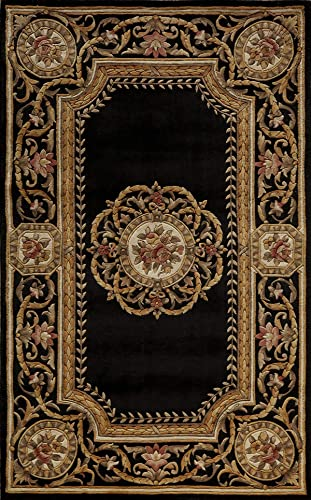 Momeni Rugs Harmony Collection, Traditional Area Rug, 2 x 3 , Black