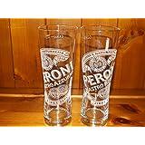 PERONI 0,3 L 2 VERRES, SET OF 2 GLASSES PERONI 0,3 L