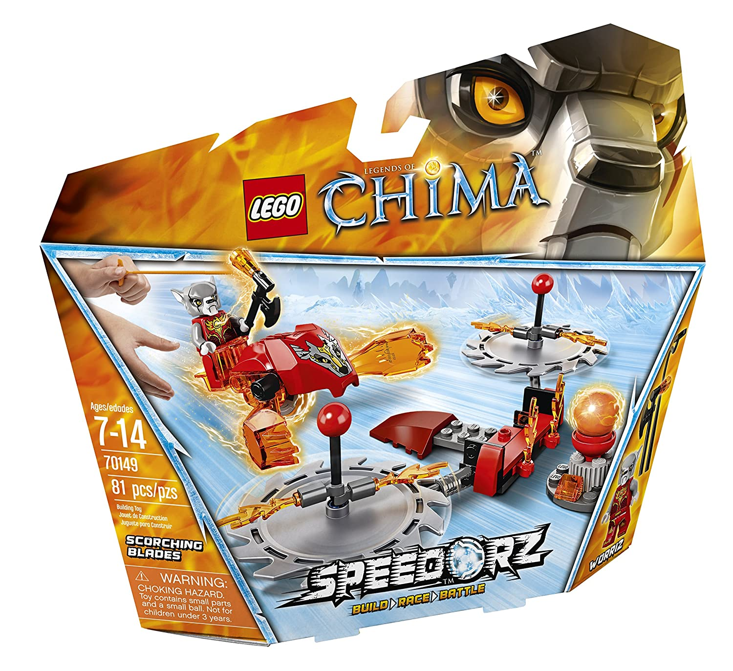 Amazon chima party supplies - Amazon Com Lego Chima 70149 Scorching Blades Building Toy Toys Games