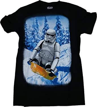 New Star Wars Stormtrooper Through The Snow Sledding Shirt