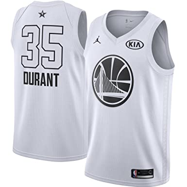 9967c8eca39 Image Unavailable. Image not available for. Color: Jordan Brand Kevin  Durant Golden State Warriors White 2018 All-Star Game Swingman Jersey -
