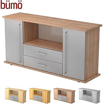 Bümö® Büro Sideboard | Büroschrank mit Stauraum für Ordner, Bücher ...