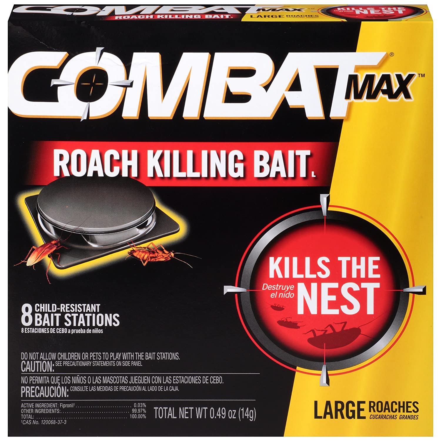 Combat Source Kill Max R2 Large Roach Bait - 1 Box (8 Bait Stations Total) Dial Corporation 766694/51913