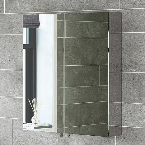 soak Armadietto da Bagno con Specchio, Doppia Anta, Design Moderno ...